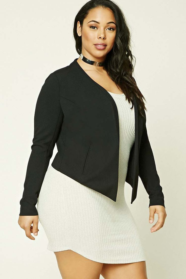 Plus Size High-Low Blazer