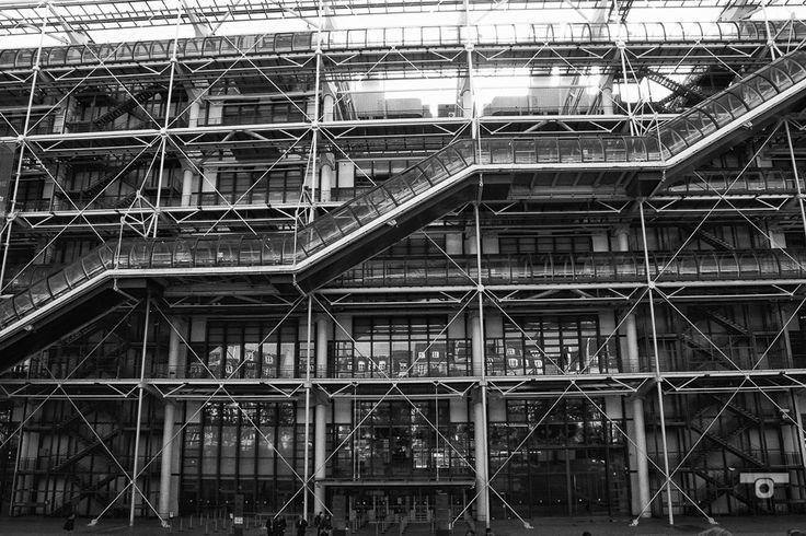 Another Architectural marvel by Renzo Piano, mémoire du paris. #Paris #France #Street Photography #Architecture #Renzo Piano #BlackandWhite
