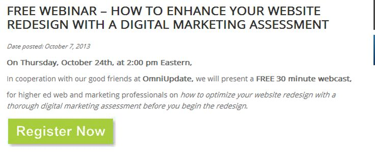 Free Webinar – How to Enhance Your Website Redesign with a Digital Marketing Assessment