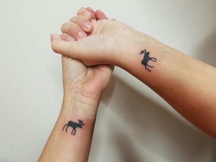 Tiny moose tattoo