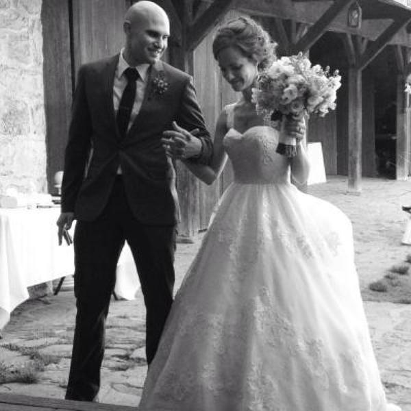 Melissa Sweet Satin Organza And Lace Wedding Dress