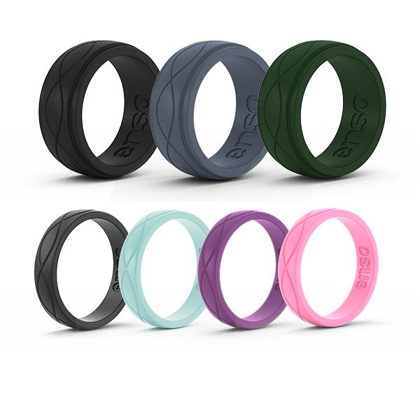 New Wedding Rings for Spring! Check out these silicone wedding rings engineered to take a beating and adapt to your active lifestyle.