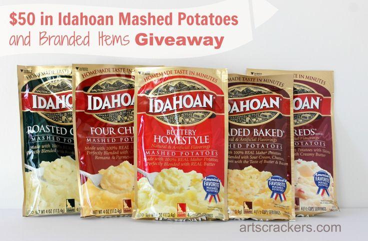 Idahoan Mashed Potatoes Giveaway $50 arv ends 11/19/14
