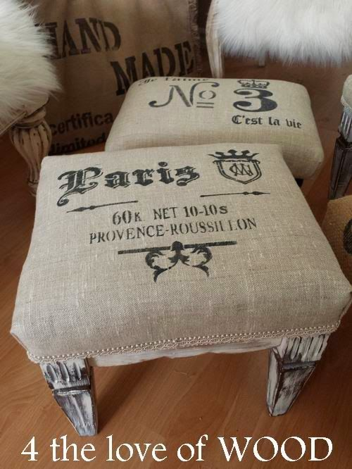 4 the love of wood: BUILDING A GRAIN SACK FOOT STOOL - tips
