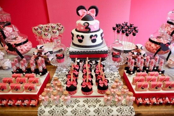 Fiesta temática y decoración de Minnie Mouse