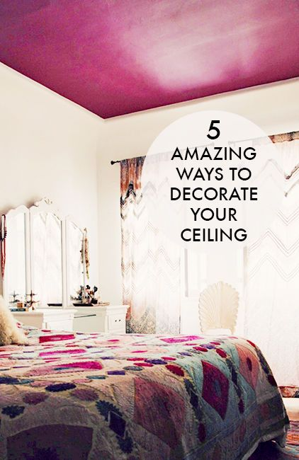 Of all the spaces you can decorate in your home, chances are high that the ceiling is not the first space that comes to mind. This is unfortunate, because there are many ways to decorate a ceiling that can breathe new life into any room in your home. Paint it a vibrant color. Hang lovely canopy fabric to create a dreamy atmosphere. Apply ceiling tiles for traditional charm. Check out eBay's guide to decorating your ceiling, and draw all eyes upward.