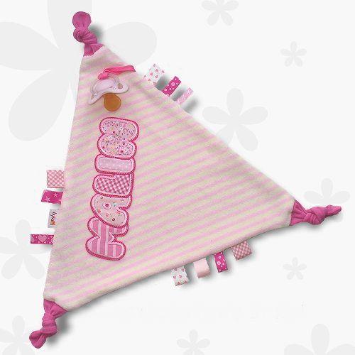 Schmuse-Schnuffel-Schnullertuch *rosa-pink* von bySaM - so einzigartig wie Ihr Kind auf DaWanda.com