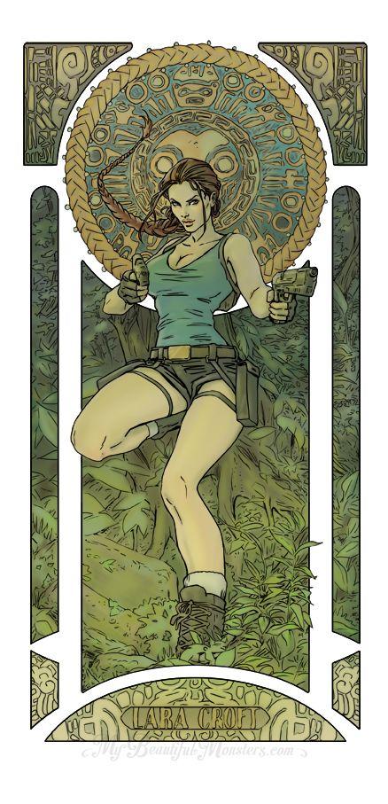 Lara Croft - Art Nouveau by MyBeautifulMonsters
