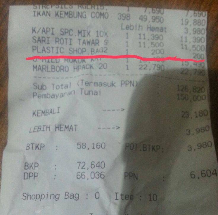 Warga Depok Berang, Super Indo DTC Masih Pungut Kantong Plastik Berbayar :http://www.depoknet.com/warga-depok-berang-super-indo-dtc-masih-pungut-kantong-plastik-berbayar/