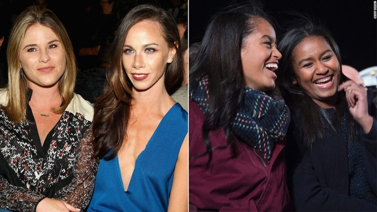 President George W. Bush's daughters are offering advice to Malia and Sasha Obama, who are soon to join them in the ranks of former first kids.