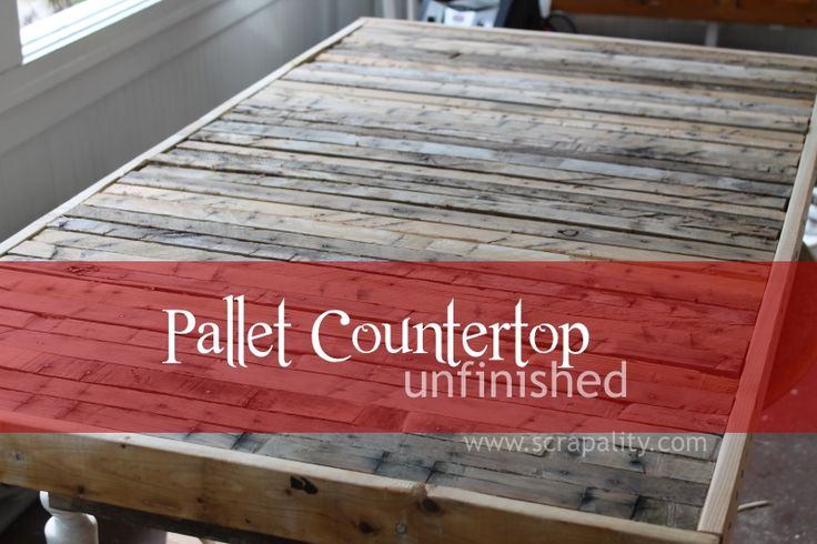Pallet Runner Countertop Unfinished Featured on Creative Spark Link Party.