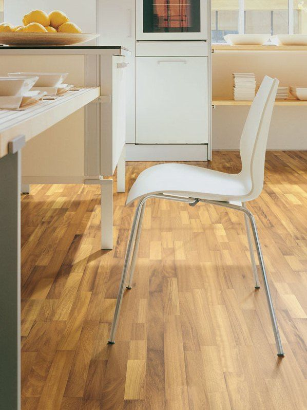 Contatto collection, #parquet Myrna. #Iroko is one of the best solutions for #kitchens and #bathrooms.