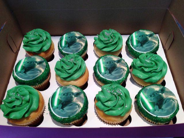 Yoda Cupcakes