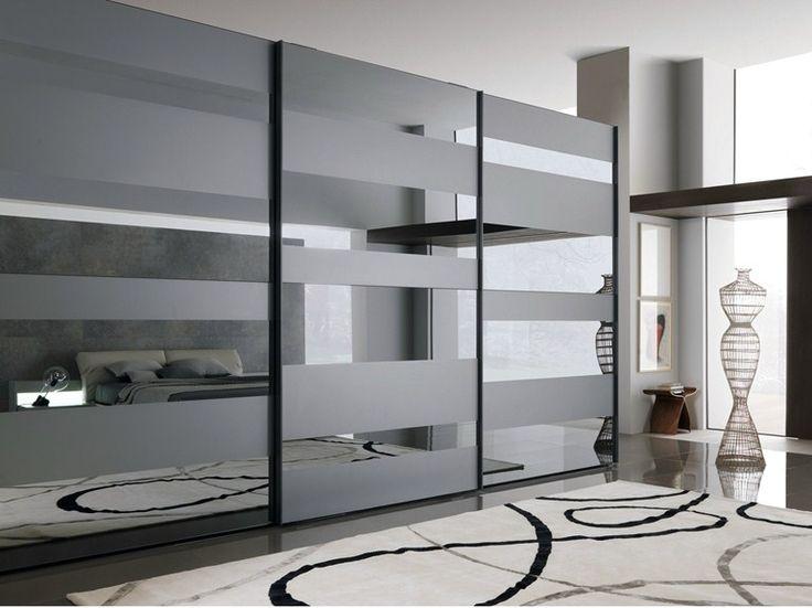 Lacquered wooden wardrobe with sliding doors SEGMENTA NEW - MisuraEmme