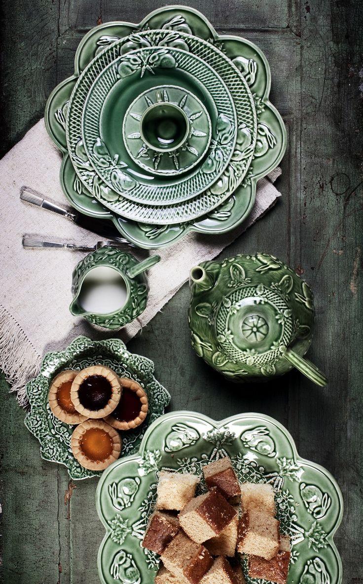 Portuguese afternoon tea with Bordallo Pinheiro porcelain.