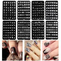 Plaques de timbre d'image de nail art estampage modèle de polish bricolage conception conseils