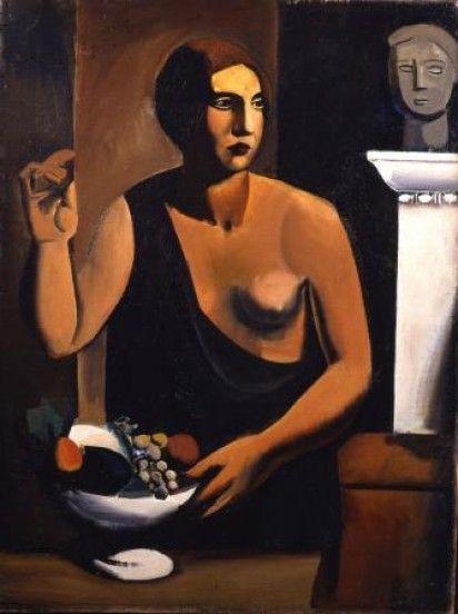 """Sironi """"Nudo con fruttiera"""" from www.arte.it"""