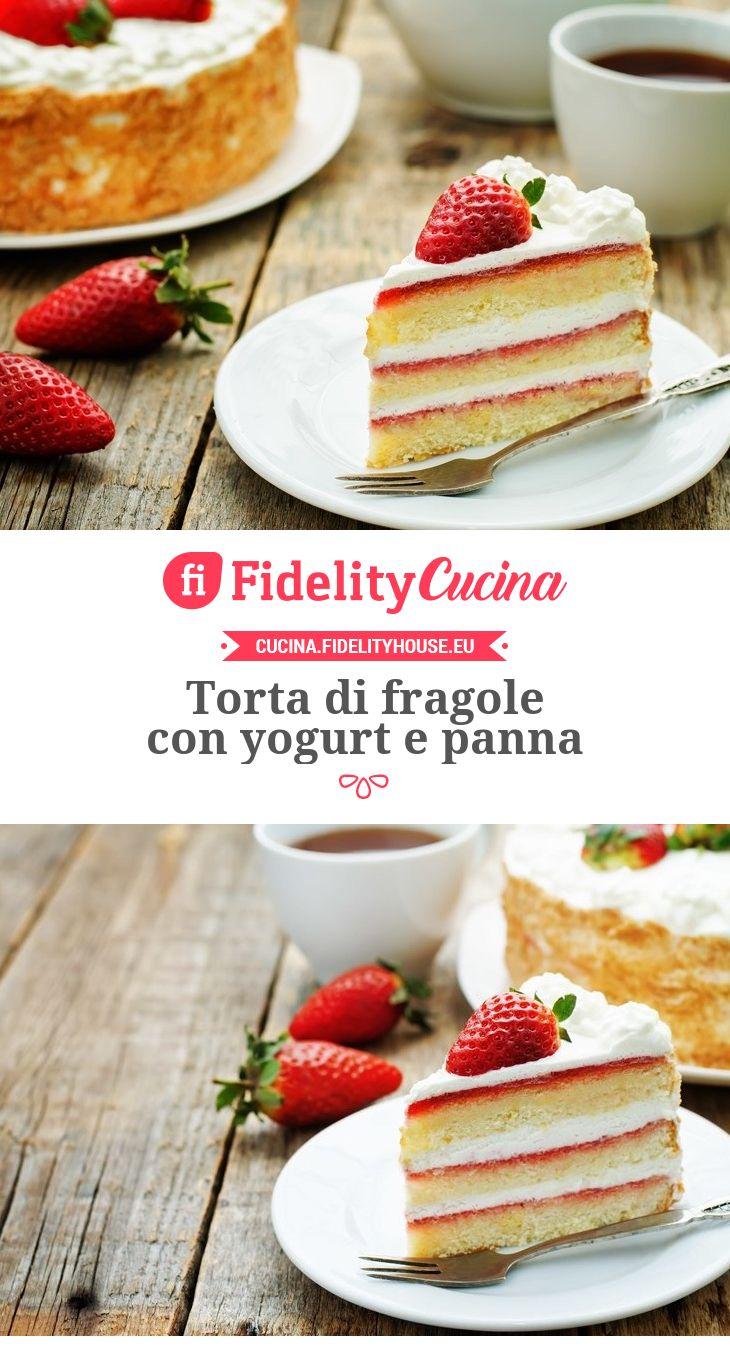 Torta di fragole con yogurt e panna