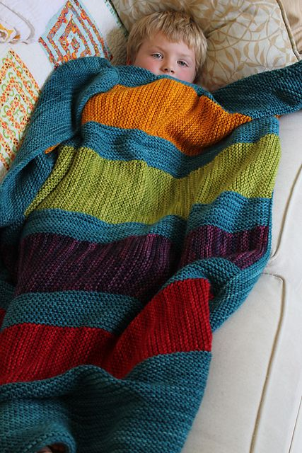 Ravelry: Bright stripes blanket pattern by Joelle Hoverson - this is a knit pattern...