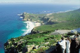 Cape of Good Hope.  Most southern tip of Africa