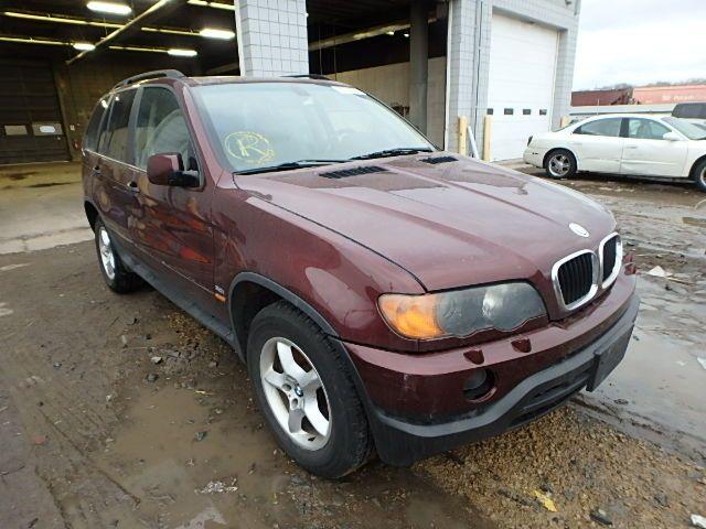 2001 BMW X5  for Sale at #CopartAutoAuction  ,  VIN : WBAFA53521LM64397