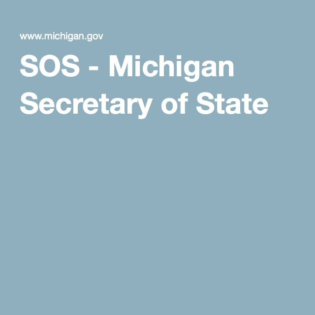SOS - Michigan Secretary of State