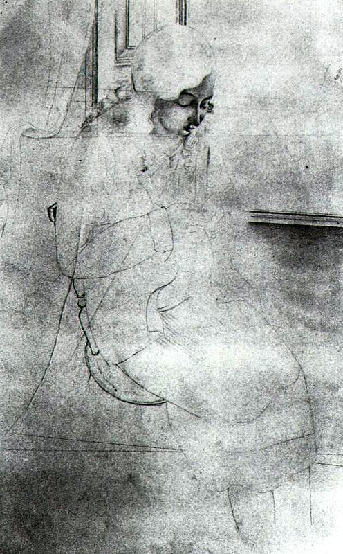 Salvador Dali, Study for Girl Sewing, 1926