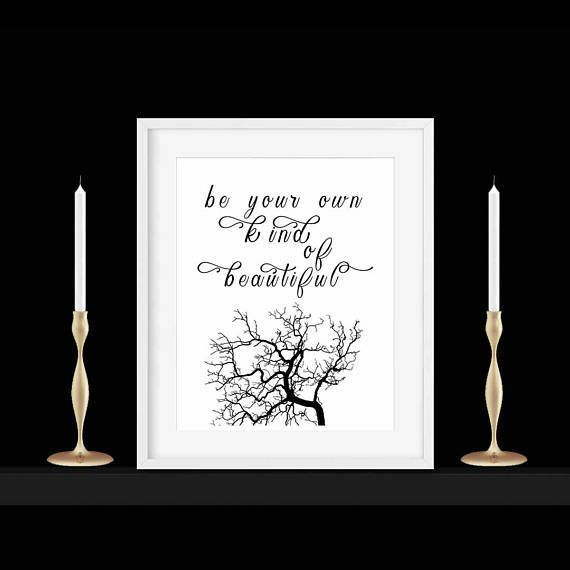 Be Your Own Kind of Beautiful Popular Quote Print Christmas