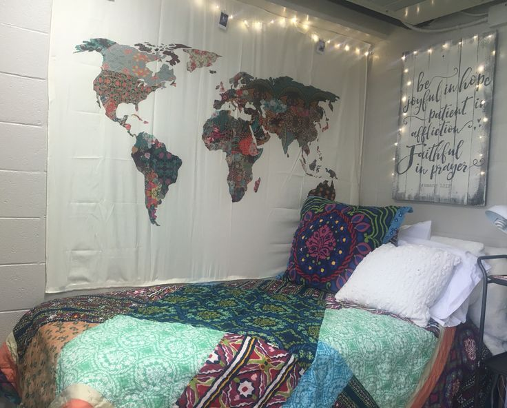 Bohemian style dorm room at Samford University. Dorm ...