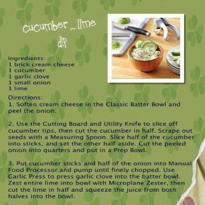 Cucumber lime dip www.pamperedchef.biz/lynettegallyer | Pampered ...