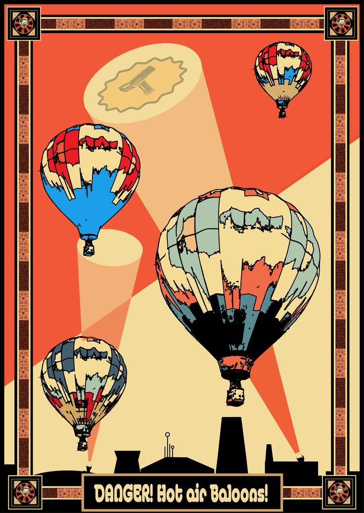 Propaganda hot air baloons.