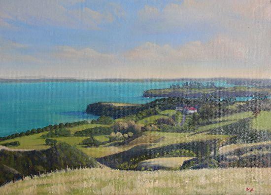 Shakespeare Park Lookout by Andras Kalmar Oil ~ 26cm x 35cm