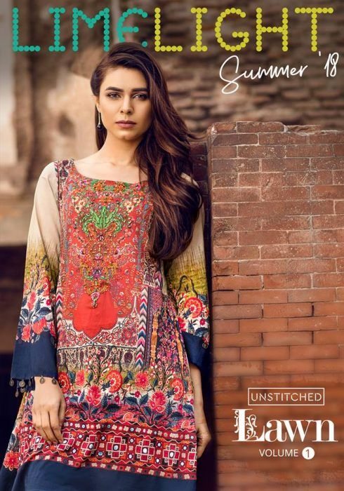 e0cf6053cd2 Limelight Embroidered Summer Lawn Collection 2018 Vol 1
