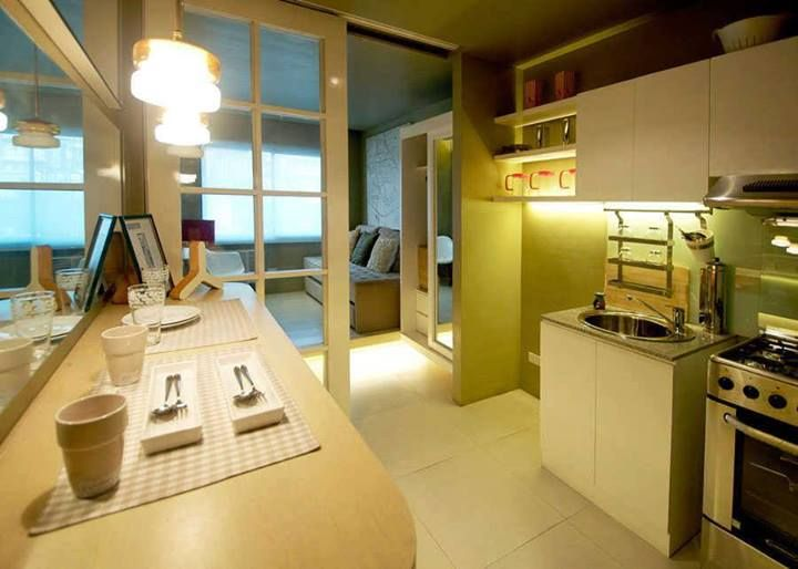 Good interior designing for a 24 sqm apartment small for Interior designs for condo units