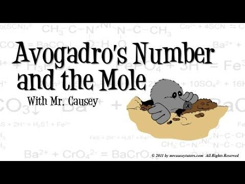 Mr. Causey explains Avogadro's gas law, Avogadro's number, the MOLE and molar mass. http://yourCHEMcoach.com Learn more and understand better with Mr. Causey...
