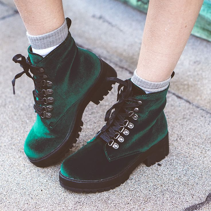 Emerald Green Velvet Harper Boot | ft. Alissa Laderer | #TUKSHOES