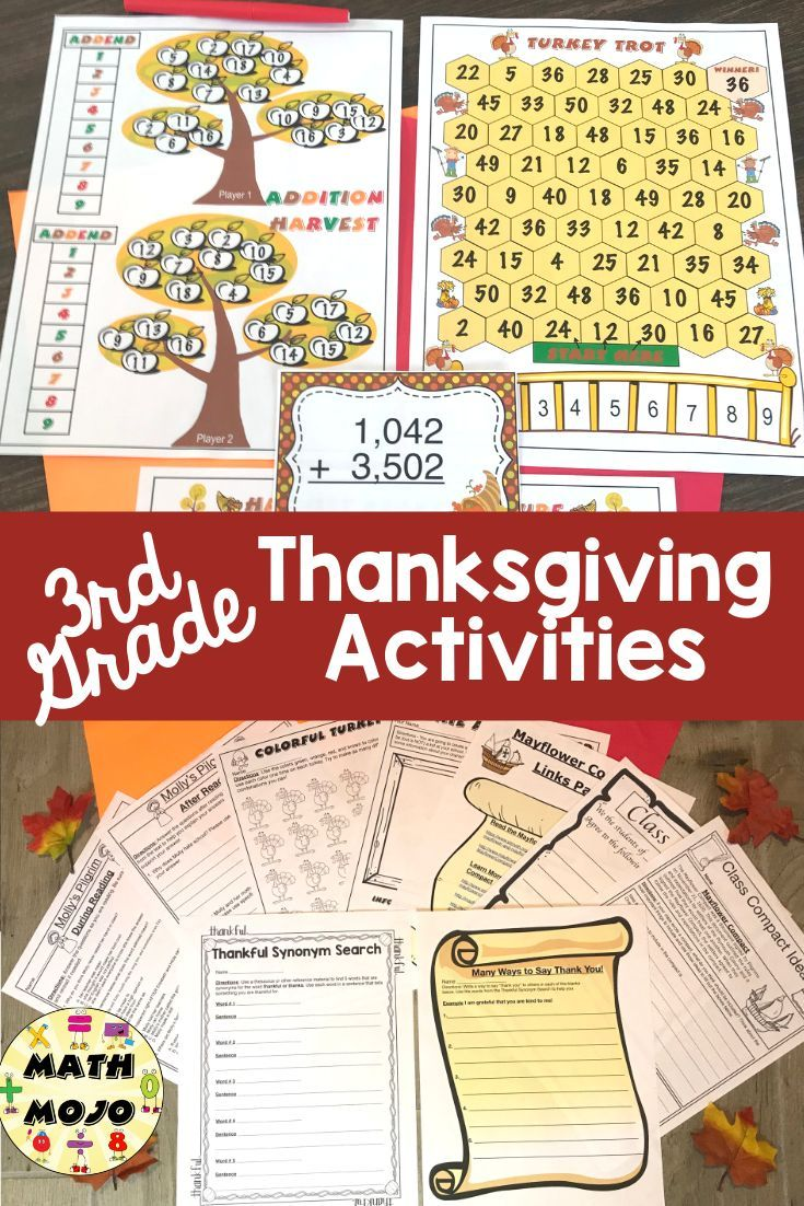 Third Grade Thanksgiving - Big kids can celebrate Thanksgiving too! This  Thanks…   Thanksgiving activities [ 1102 x 735 Pixel ]