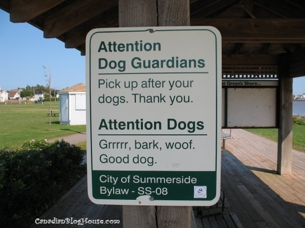 DOG TALK - SUMMERSIDE, PEI #dogs #signs #bylaw #Summerside #PEI