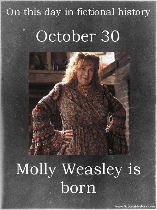 Name: Molly Weasley - Birthdate: October 30 - Sun Sign: Scorpio, the Scorpion