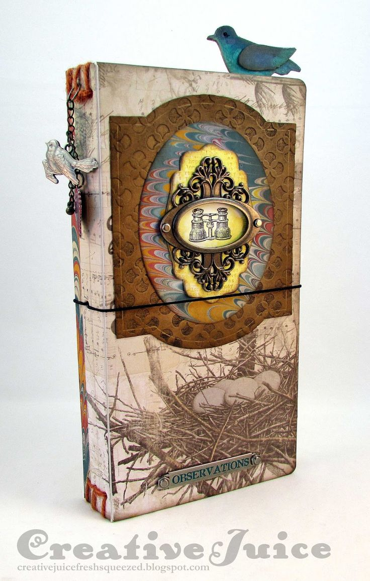 Lisa Hoel – a bird watching journal created with Eileen Hull's new Sizzix Journal Scoreboards Die. The possibilities are endless! #sizzix #JournalDie #EileenHull