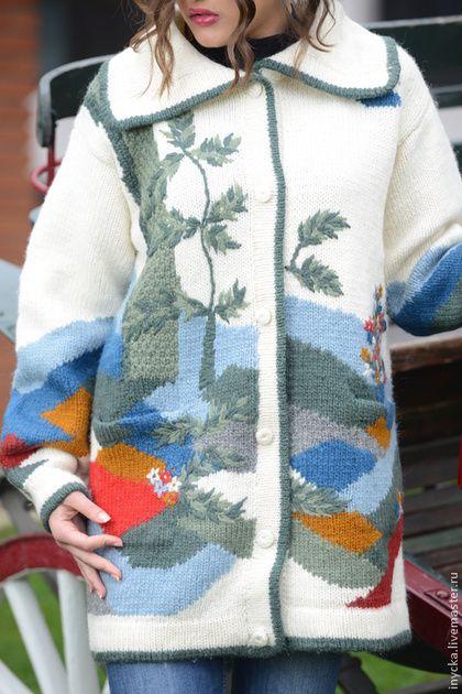 Верхняя одежда ручной работы. Ярмарка Мастеров - ручная работа Вязаное пальто 14WJ20. Handmade.