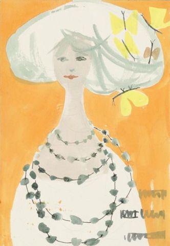 By Lora Lamm (born 1928), ca 1958, La Rinascente, Mailand, IT. (I) (model production)