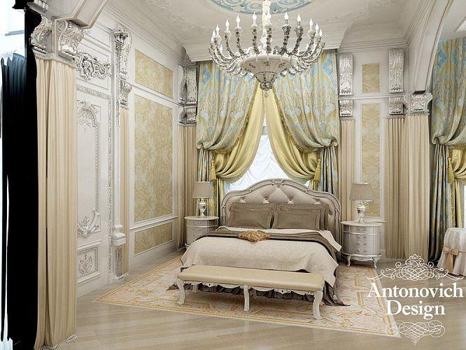 Светлая спальня в особняке Миллениум Парк