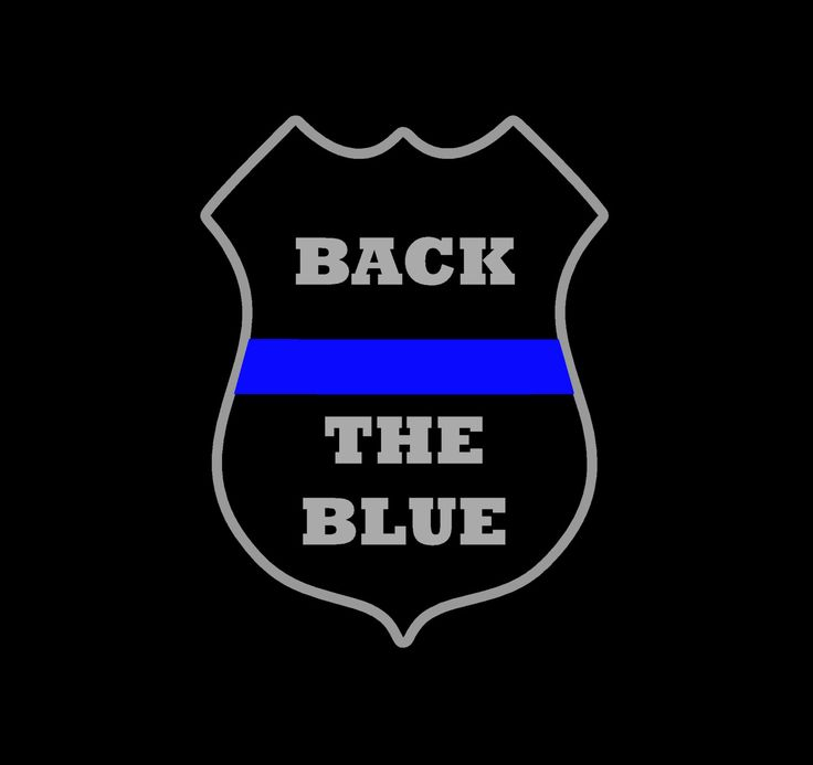 Back the Blue - Blue Lives Matter Decal - Police Badge - Thin Blue Line Decal - Cop - Law Enforcement Badge Decal - pinned by pin4etsy.com