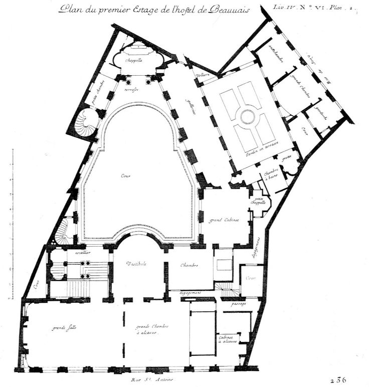 Hotel plan, How to plan, French architecture