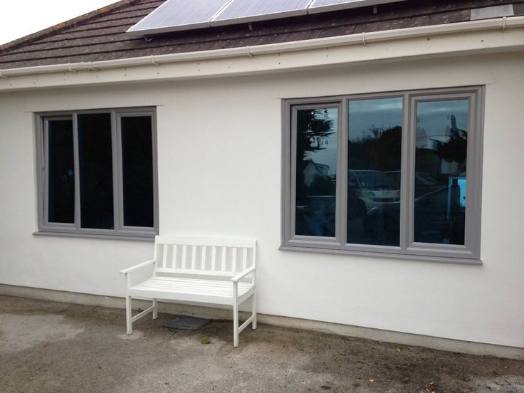 Grey windows google search new house pinterest for Grey upvc porch