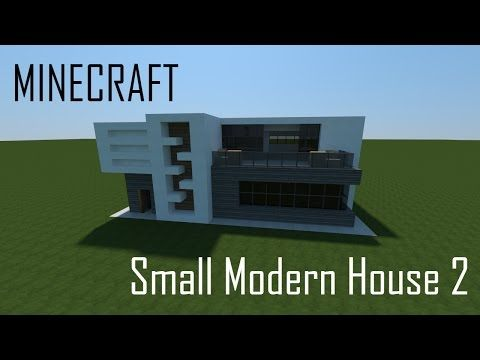 Minecraft Small Modern House 2 (full interior) + Download - YouTube