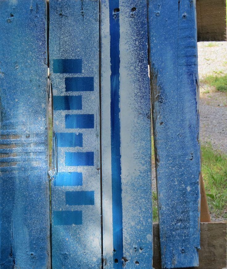 P007  Acrylique sur bois recyclé Acrylique on recycled wood 14x16 pouces/inchs 225.00$