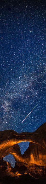 Stars. Arches Nat'l Park, Utah