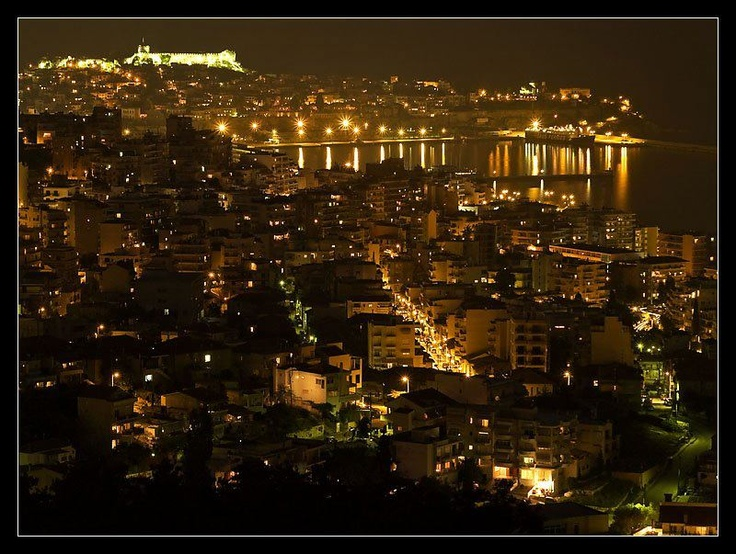 The beautiful city of Kavala in Greece.